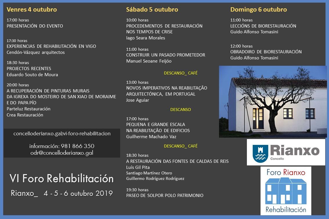 Foro rehabilitacion programa 2019